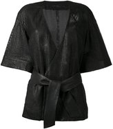 Drome belted kimono - women - Leather/Cupro - M