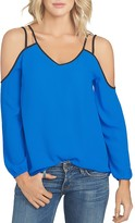 1 STATE 1.STATE Strappy Cold Shoulder Blouse