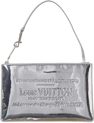 Louis Vuitton Limited Edition Silver Monogram Miroir Leather Pochette