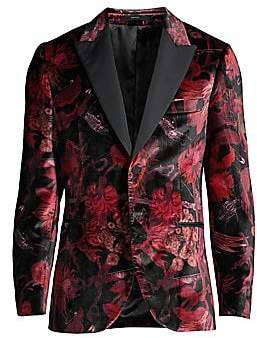 Paul Smith Men's Goliath Floral Velvet Blazer