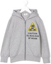 Fendi DJ Bug patch zip hoodie