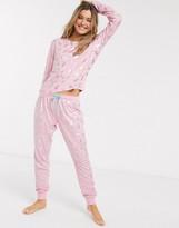 Chelsea Peers pineapple foil print pyjamas