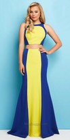 Mac Duggal Color Block Two Piece Prom Dress