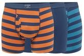 Mantaray Pack Of Three Orange Striped Print Trunks
