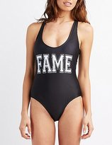 Charlotte Russe Fame One-Piece Swimsuit