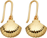 Astley Clarke Biography 18ct yellow-gold shell drop earrings