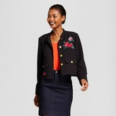 A New Day Women's Embroidered Military Jacket - A New Day Black