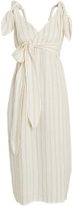 Mara Hoffman Calypso Twisted Stripe Midi Dress