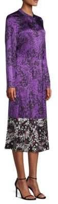 Escada Women's Dillasa Splatter Print Silk Midi-Dress - Dark Purple - Size 36 (6)