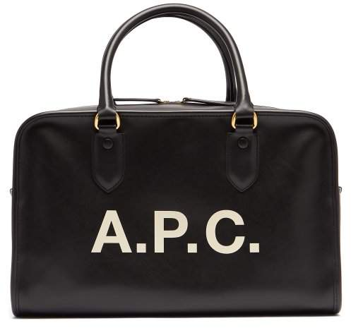 A.P.C. Sylvie Logo Print Bag - Womens - Black