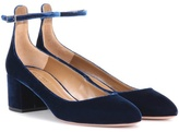 Aquazzura Alix 50 Velvet Pumps