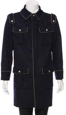 Chanel Wool Military Coat