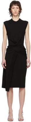 McQ Black Tomiko Knit Twist Dress