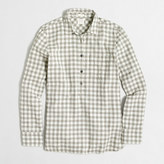 J.Crew Factory Petite homespun popover shirt in boy fit