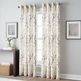 Botanical Grommet Top Window Curtain Panel
