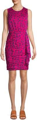 Diane von Furstenberg Micah Floral Ruched Bodycon Dress