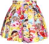 Ninimour- Holiday Season Christmas Santa Xmas Print Mini Tutu Skirt