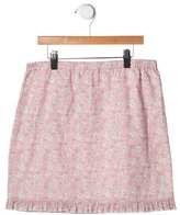 Papo d'Anjo Girls' Ruffle-Trimmed Floral Print Skirt