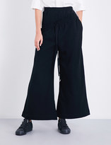 Miharayasuhiro Wide high-rise cotton-jersey jogging bottoms