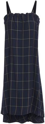 McQ Velvet-trimmed Checked Crepe Dress