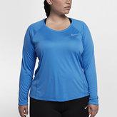 Nike Miler Women's Long Sleeve Running Top (Plus Size)