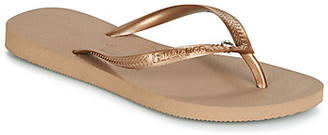 Havaianas SLIM CRYSTAL GLAMOUR SW women's Flip flops / Sandals (Shoes) in Gold