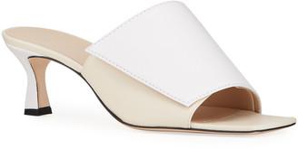 Wandler Isa Bicolor Kitten-Heel Slipper Sandals
