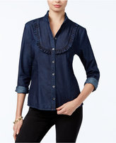 GUESS Slim Line Ruffled Shirt