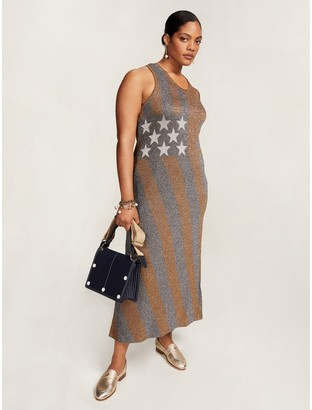 Tommy Hilfiger Curve Metallic Stripe Dress
