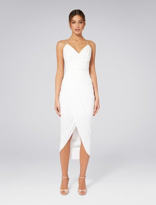 Forever New Charlotte Drape Maxi Dress - Porcelain - 8