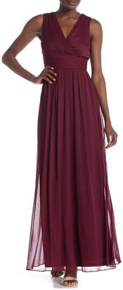 Onyx Nite Surplice Neck Maxi Dress
