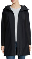 Post Card Hooded Zip-Front Stretch Parka, Nero