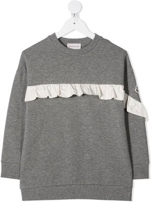 Moncler Enfant Ruffle Detail Sweatshirt