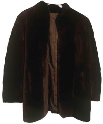 Saint Laurent Brown Faux fur Coats