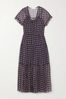 See by Chloe Tiered Printed Silk-georgette Midi Dress