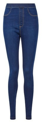 Dorothy Perkins Womens **Tall Blue 'Eden' High Waisted Super Soft Jeggings, Blue