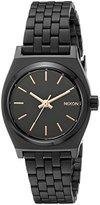 Nixon Women's A399957 Small Time Teller Analog Display Japanese Quartz Black Watch