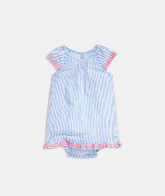 Vineyard Vines Baby Girl Sunbleached Stripe Embroidered Dress Set