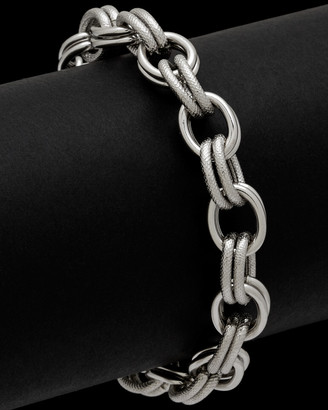 Italian Silver Double Link Bracelet