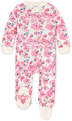 Burt's Bees Bold Blossoms Organic Baby Zip Front Loose Fit Pajamas