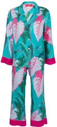 For Restless Sleepers The Webster X Ritz Paris Floral Print Pajama Set Blue