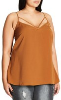 City Chic Strappy Woven Camisole (Plus Size)