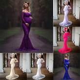 MOONHOUSE 2018 Maternity Elegant Dress Sexy V Neck Off Shoulders Lace Nursing Baby Bridesmaid Pregnant Dress For Photos