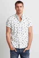 American Eagle Outfitters AE Short Sleeve Print Oxford Shirt