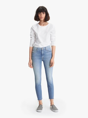 Mother High Waisted Looker Ankle Fray - Shoot To Thrill
