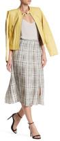 Vince Interlace Printed Pleated Skirt