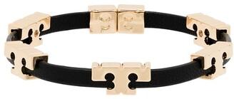 Tory Burch Applique Detail Leather Bracelet