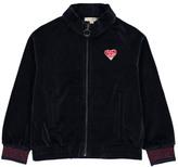 Hundred Pieces Boom Velvet Zip-Up Sweatshirt