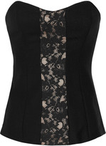 By Malene Birger Lace and wool corset top