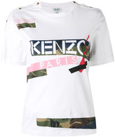 Kenzo patch print T-shirt - women - Cotton - L